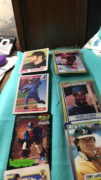 four assorted baseball trading cards Moore, 29369