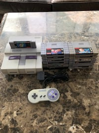 Super Nintendo with 13 games!
