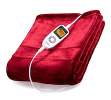 Electric Throw, Heated Blanket, 10 Temp Settings NEW ½ RETAIL