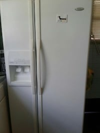 white Whirlpool side by side refrigerator Anniston, 36201