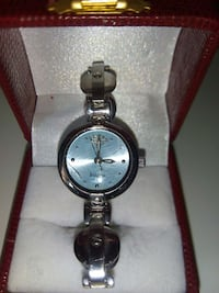 round silver analog watch with link bracelet Cobourg, K9A 1L4