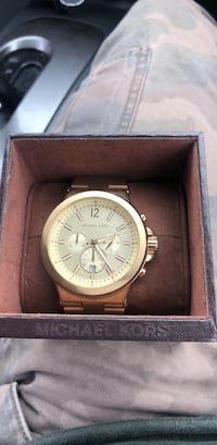 round silver Michael Kors chronograph watch with link bracelet Greenville, 29615