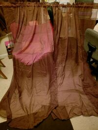 2 brown sheer 58in x 84in curtains Jacksonville, 32221