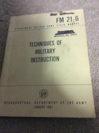JUST REDUCED Techniques of Military Instruction  Rockville