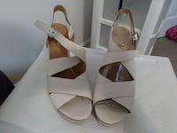 white-and-brown leather ankle strap open toe sanda Alexandria, 22305