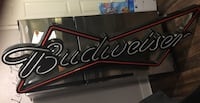 red and white Budweiser neon signage 1126 mi