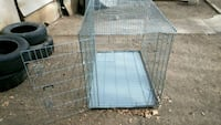 XL HD Silver metal folding dog crate Colorado Springs, 80905