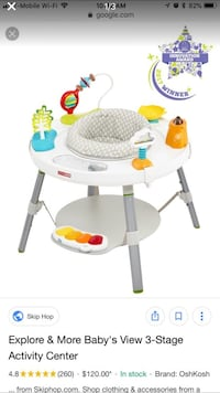 Grows with your baby. 2 toys missing but can be purchased through Skip Hop Miami, 33187