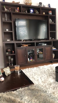 Brown wooden tv hutch only Johnstown, 15904