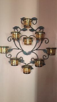 Black metal scrolled candle sconce Vaughan, L6A 1H2