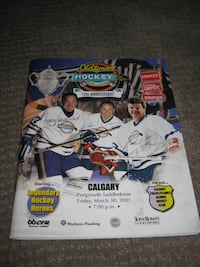 NHL Oldtimers' Hockey Challenge Souvenir Program Magazine Calgary