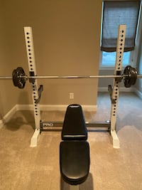 Weight Benches and Weight bar with 90 lbs included