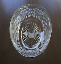 Lead Crystal Oval Fruit Bowl Dish 12""