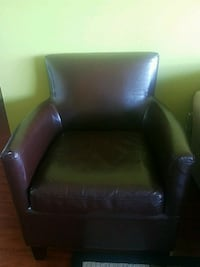 black leather sofa chair with ottoman Alexandria, 22311