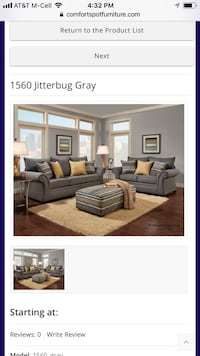 1560 Gray Sofa and Love  Mesquite