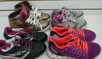(128) Active shoes for girls, size 5 Youth, $10 each Etobicoke