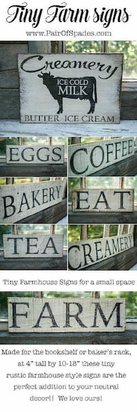 Hand painted farmhouse signs Sugarcreek, 44681