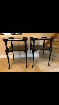 Antique side tables refinished in black colour  Toronto, M6S 1A5