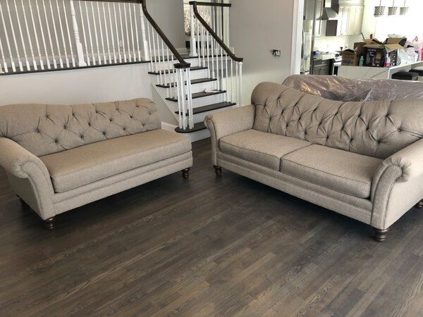 Terrific Gray Couch And Chaise Set Retails For 1 000 Ncnpc Chair Design For Home Ncnpcorg