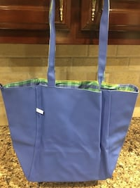 """Waterproof Pool Bag 18"""" wide by 12"""" high with plaid lining Smyrna"""
