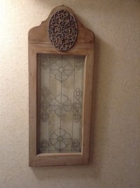 Brown wooden framed glass, antique style Mississauga, L5L 1G5