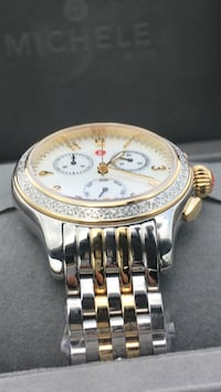 round silver and gold chronograph watch Gaithersburg, 20877