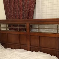brown wooden bed headboard and footboard Las Vegas, 89108