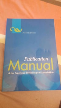 Publication Manual of the American Psychological association.  6th edi