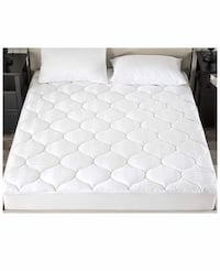 New downluxe Down Alternative Fitted Mattress Pad (Twin,White) -500TC