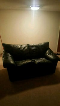 black leather sofa chair Burnaby, V5B 1P6