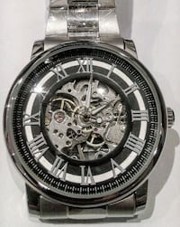Chrome stainless cartier styled automatic watch Toronto