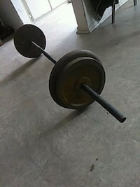 black and gray weight plate 76lbs San Diego