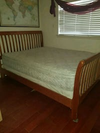 Queen bed with rails, mattress and box spring!  El Paso, 79912