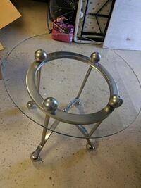 stainless steel base glass top table San Diego, 92107