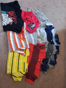 assorted shirt lot