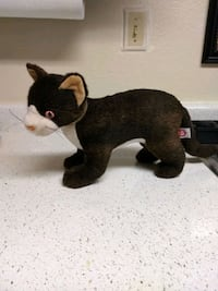 "$5.50*TY STUFFED CAT 12"" LONG"