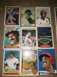 Baseball cards mix years and NHL cards (33 cards)