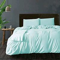 Queen duvet cover and pillow cases Soft blue color Alexandria, 22304
