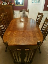 brown wooden dining table set Cumming, 30040
