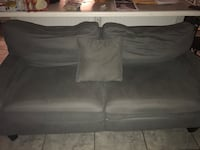 gray suede 2-seat sofa Abbeville, 70510