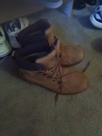 pair of brown leather work boots Colorado Springs, 80922