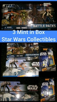 3 New Unopened Mint in Box Star Wars Collectibles  Charlotte, 28202
