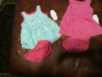 Girls knit dresses size 0-3 months bnwt