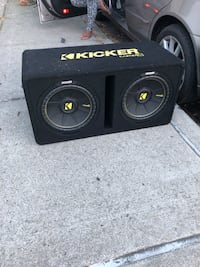 Kicker Dual 12-Inch 1200 Watt 2 Ohm Vented Loaded Subwoofer Enclosure, 44DCWC122,Black,31.88 x 13.2 x 17.25 x 16 inches New York, 11420