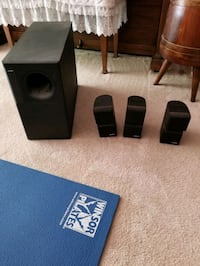 Bose AM7 home theater speakers with cobra stands Fairfax, 22031