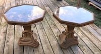 Set Vintage Italian Plaster Base Eglomise Accent Tables. Columbia, 38401