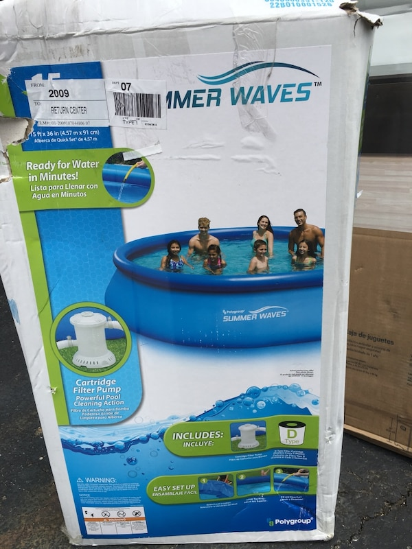 Used Summer Waves Above Ground Pool Box For Sale In Gahanna Letgo