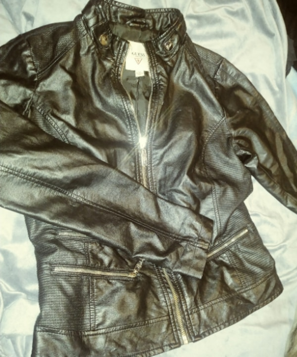 S leather guess jacket