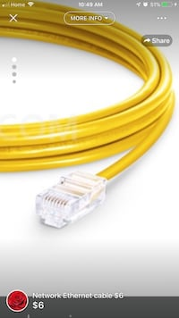 Network Ethernet cable-$5 HDMI cable-$6. Toronto, M1H