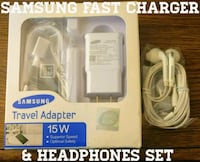 Samsung Fast Charger & Headphones Set (Originals)  Arlington